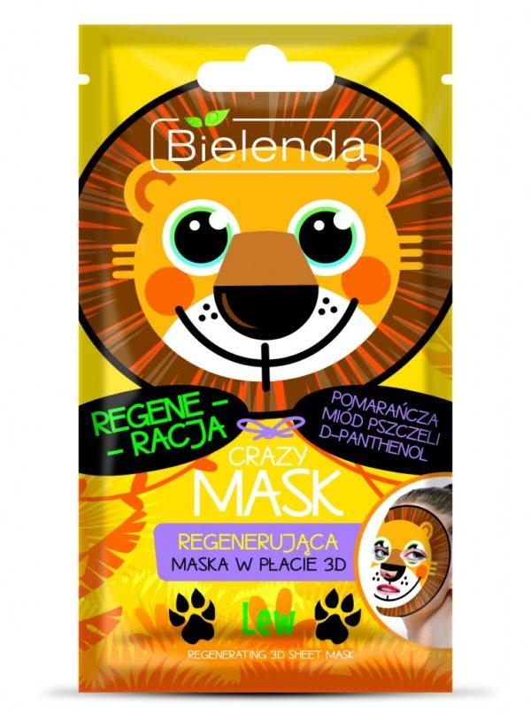 maseczka regenerująca Bielenda Crazy Mask LEW
