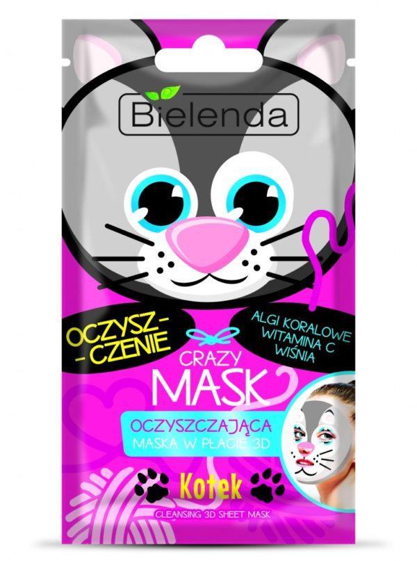 maseczka oczyszczajaca bielenda crazy mask kotek
