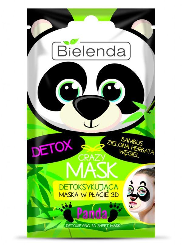 detoksykująca maseczka w płachcie 3d bielenda crazy mask
