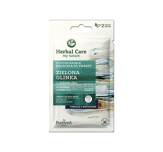 farmona herbal care maseczka zielona glinka