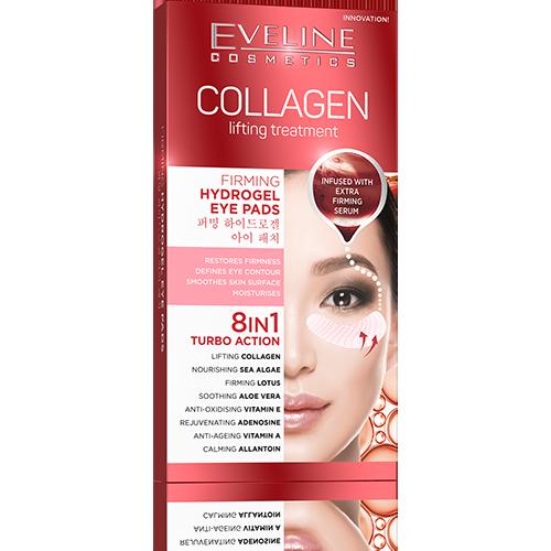 kolagenowy zabieg liftingujący eveline płatki kolagenowe pod oczy