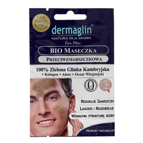specjalnie dla mężczyzn dermaglin men bio maseczka przeciwzmarszczkowa