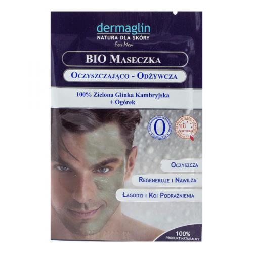 maseczka oczyszczająco odżywcza dla mężczyzn dermaglin