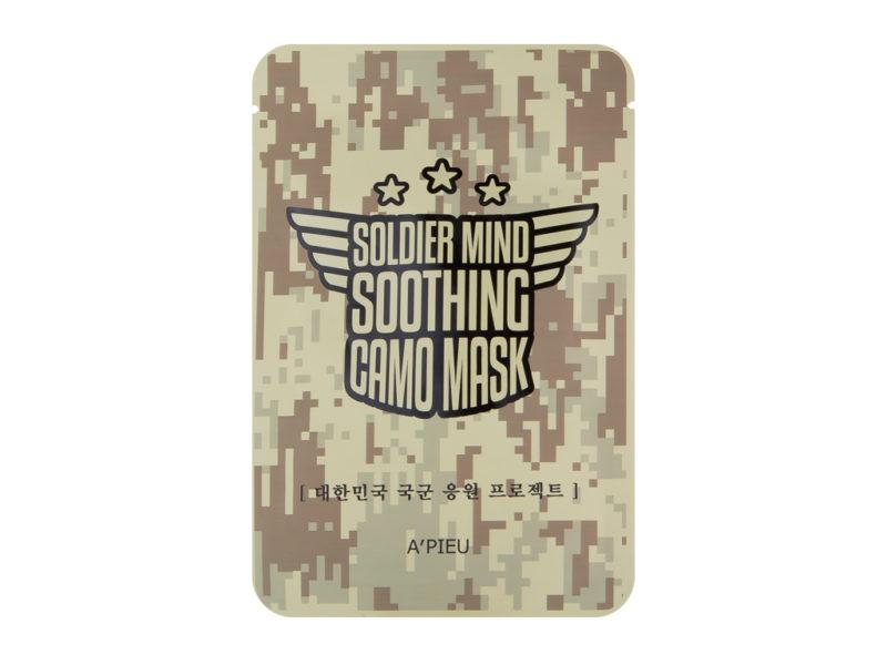 maseczka dla prawdziwego mężczyzny a'pieu soldier mind soothing camo mask