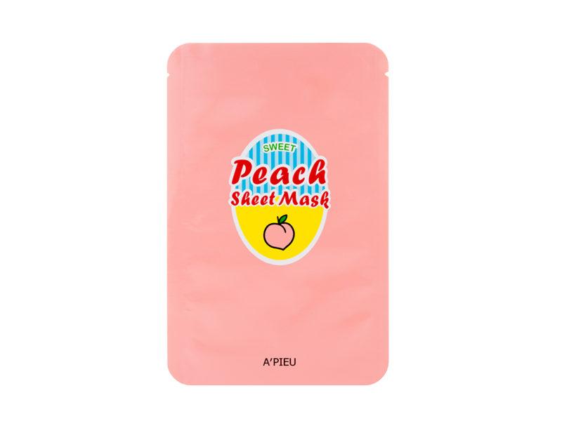 wygładzająca maseczka jogurtowa a'pieu sweet peach sheet mask