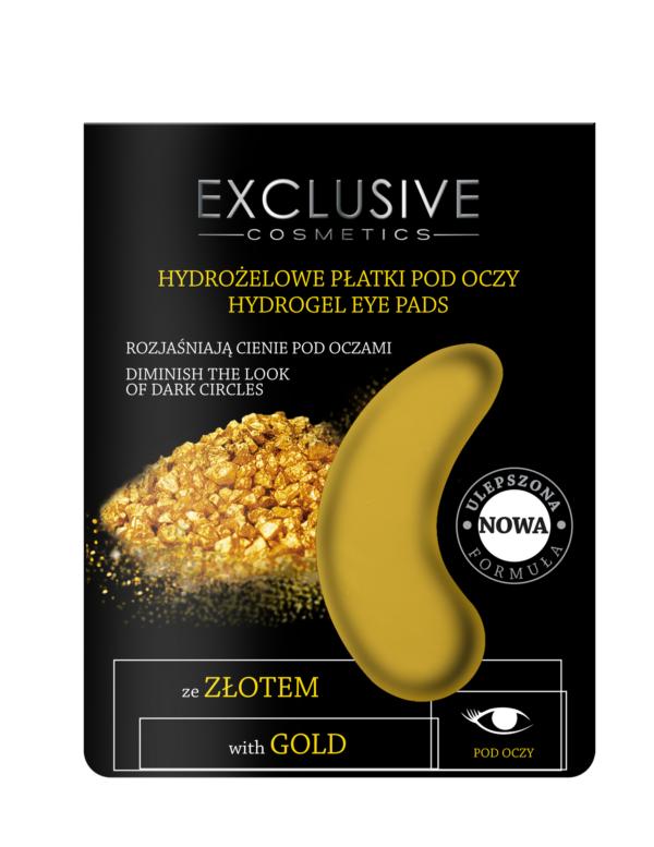 Hydrożelowe płatki pod oczy ze złotem