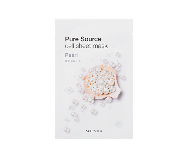 perłowa maseczka Missha pure source cell sheet mask pearl
