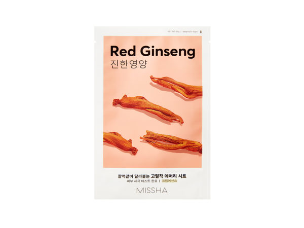 Missha Airy Fit Sheet Mask Red Ginseng - odżywcza maseczka w płacie