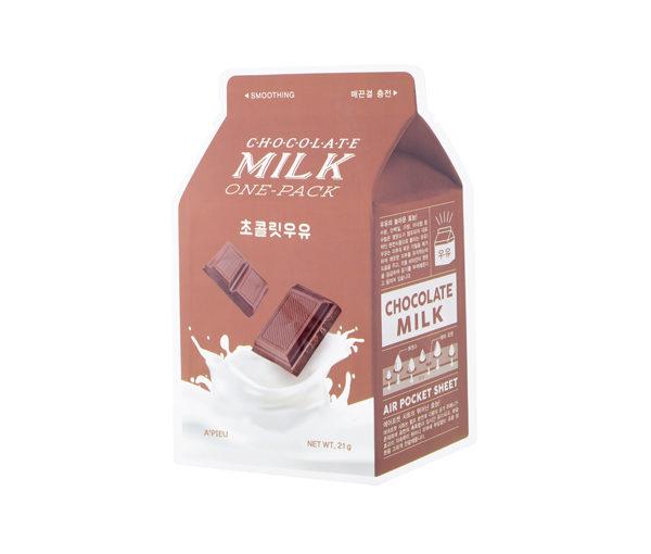 mleczna czekoladowa maseczka w płachcie A'pieu chocolate milk one pack