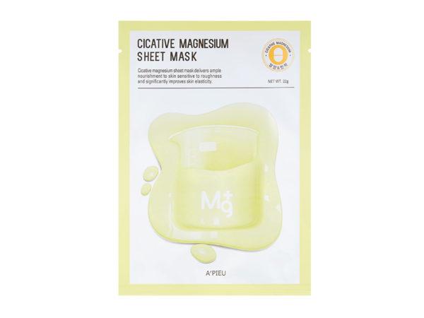 maseczka na bazie magnezu a'pieu cicative magnesium sheet mask