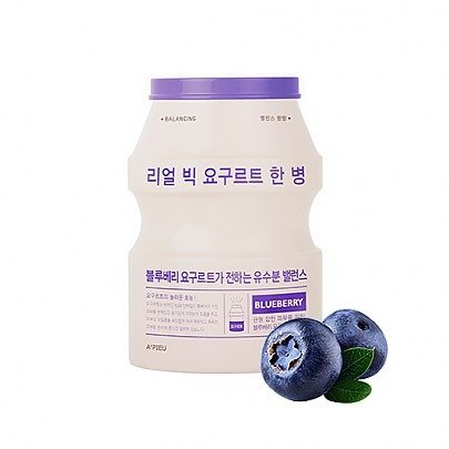 maseczka balansująca A'pieu real big jogurt one bottle blueberry