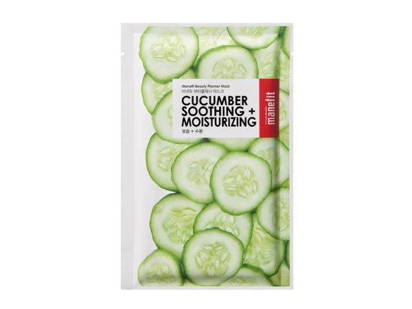 ogórkowa maseczka w płachcie beauty planner cucumber shoothing mask