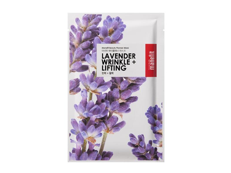 maseczka przeciwzmarszczkowa beauty planner lavender wrinkle care lifting mask