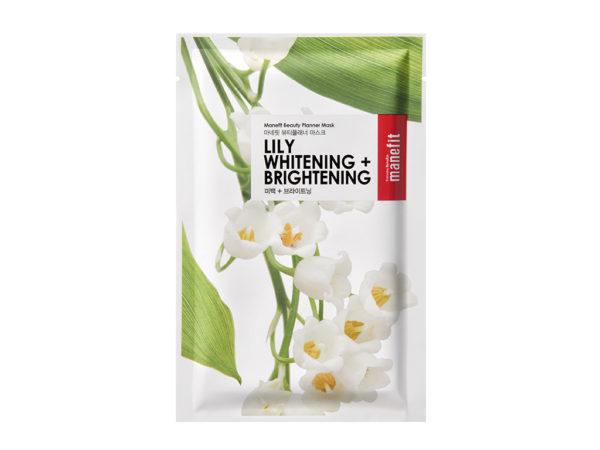 maseczka rozjaśniająca przebarwienia beauty planner lily whitening brightening mask