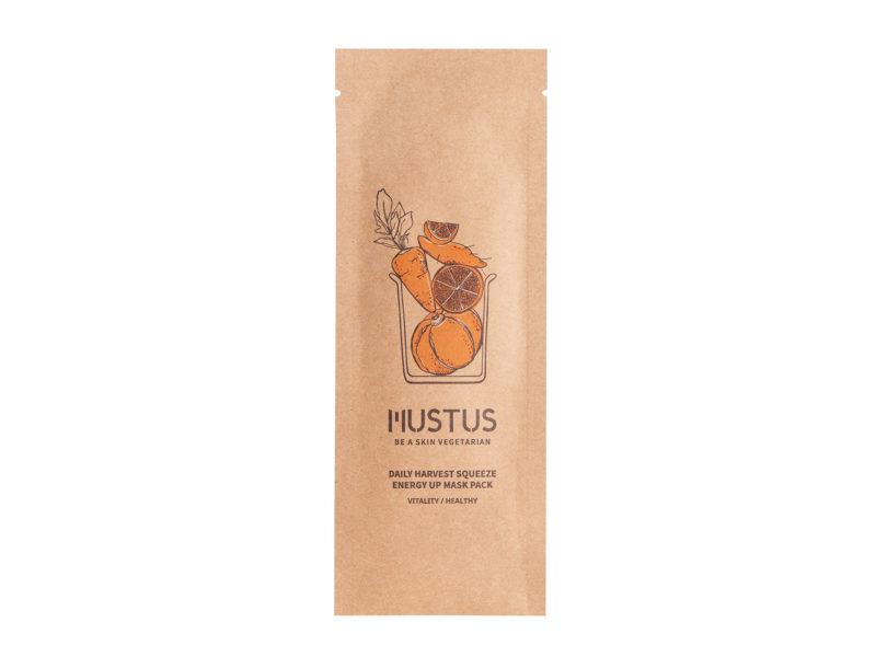 mustus daily harvest squeeze energy up mask- ujędrnianie twarzy