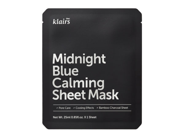 maseczka po opalaniu klairs midnight blue calming sheet mask