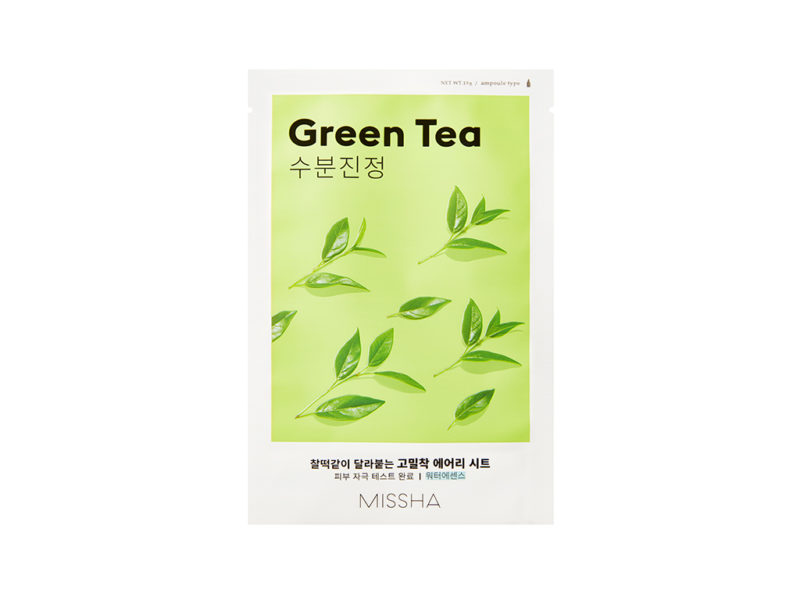 Missha Airy Sheet Mask Green Tea - maseczka nawilżająca