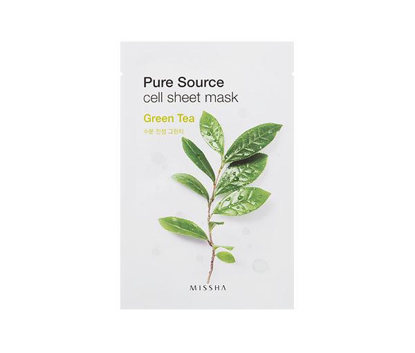 maseczka z zielonej herbatyMissha pure source cell sheet mask