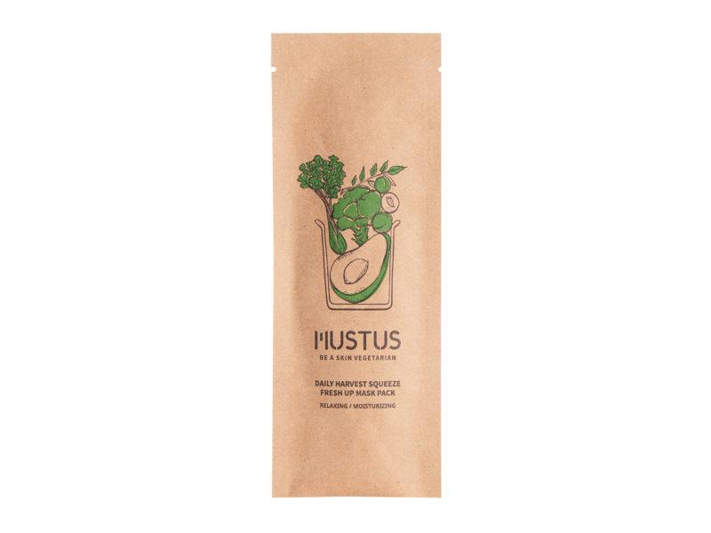 Mustus Daily Harvest Squeeze Fresh Up Mask - skuteczne nawilżanie twarzy