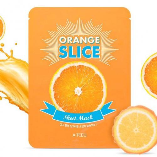 rozjaśniajaca maseczka z ekstraktu pomarańczy a'pieu orange slice sheet mask