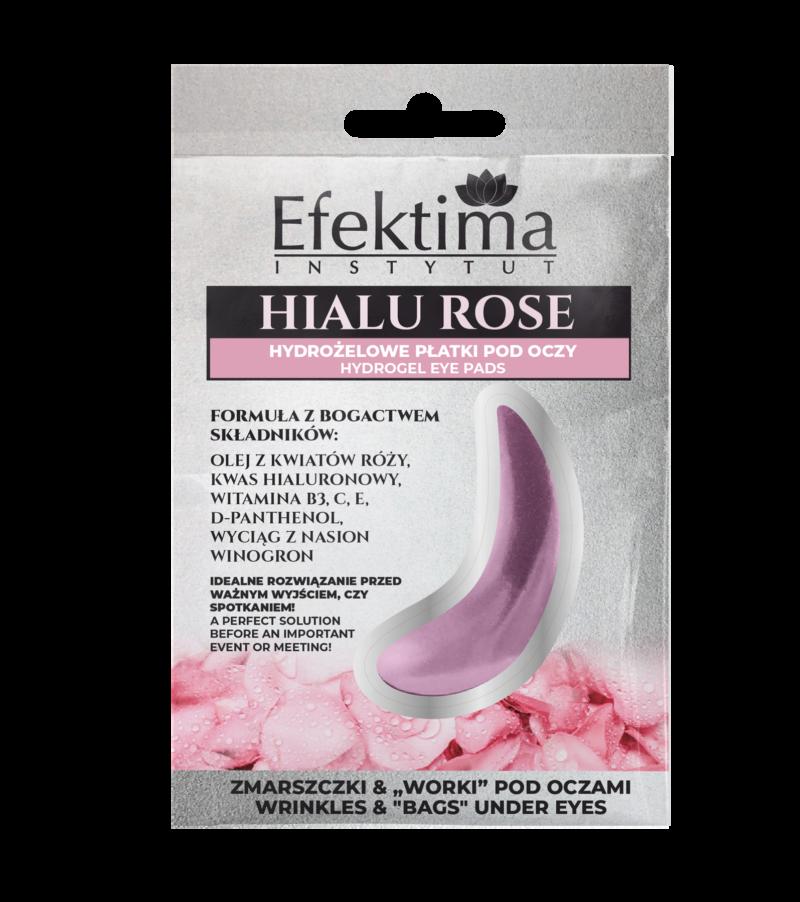 hydrożelowe płatki pod oczy hialu rose