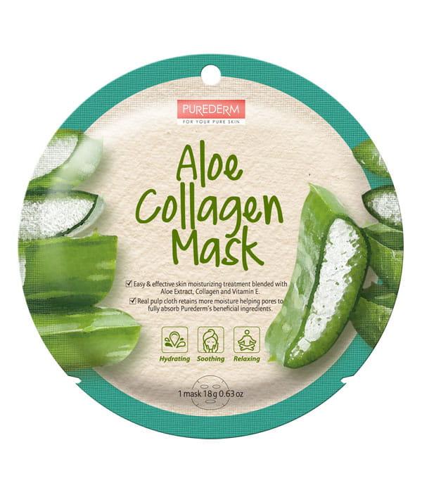 purederm maseczka kolagenowa z aloesem