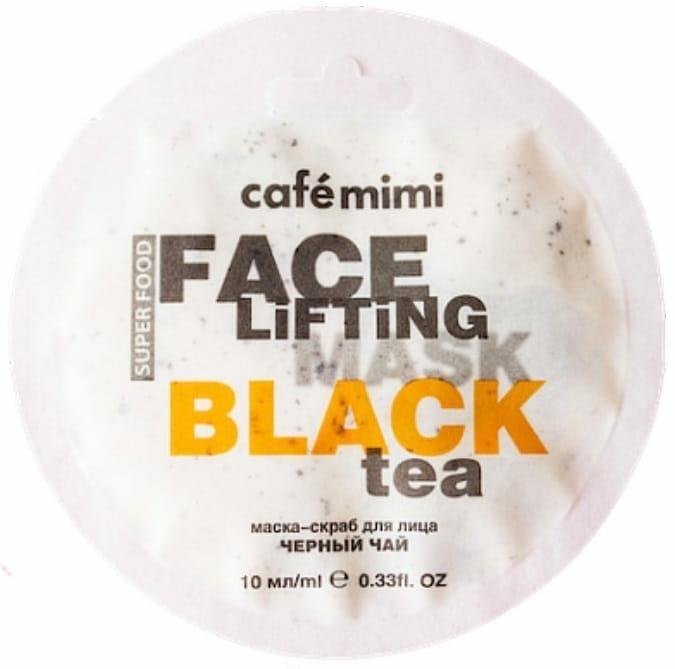 cafe mimi maseczka z czarną herbata i trawą cytrynową